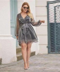 Große Größe Boho chic Kleid