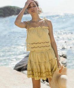 Kurzes Kleid Hippie chic Stil